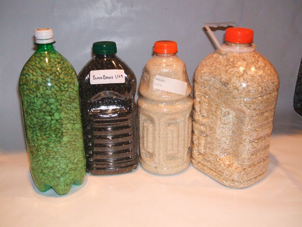 Kitchen Storage Canisters Storing Bulk Dry Foods In Pete Bottles Using Oxygen