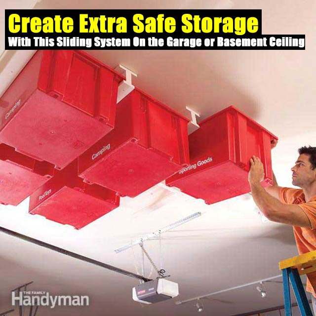 Create Extra Safe Storage With This Sliding System On The