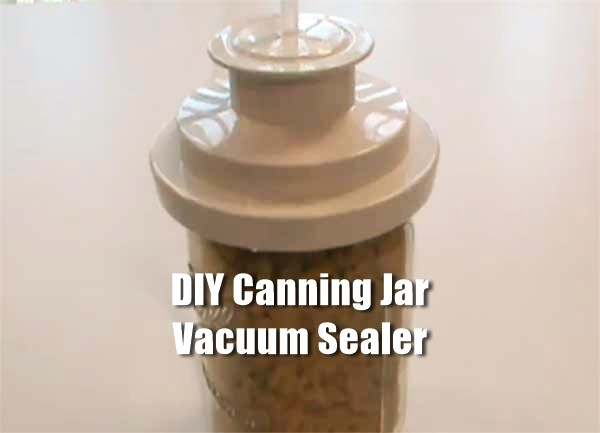 Homemade Canning Jar Vacuum Sealer - Don't spend a lot of money on a canning jar vacuum sealer when you can make one yourself. Making this is really easy to do and could help you out when you can your summer food for the winter or for food storage.