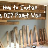How to Install a DIY Pallet Wall