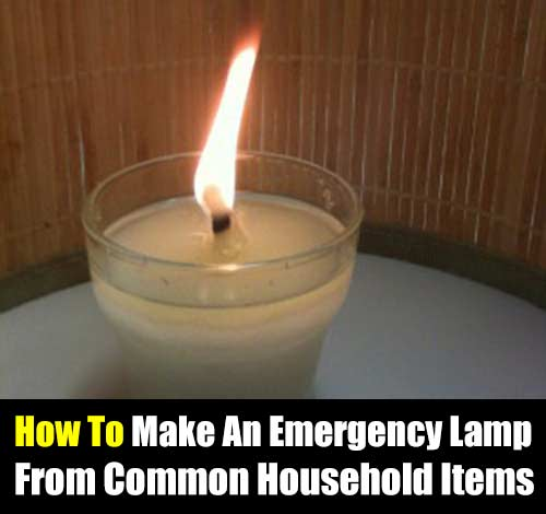 How To Make An Emergency Lamp From Common Household Items - This is valuable knowledge, if a storm hits or SHTF and you have no way of lighting your surroundings morale will suffer and make things very difficult.  Light gives hope and also a little warmth. It keeps kids calm and gives you a sense of normalism.