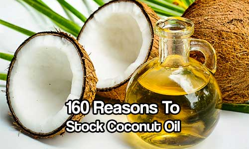 160 Reasons to Stock Coconut Oil - Coconut oil offers a wide range of health benefits, coconut oil is affordable, readily available and completely natural. You can use it for EVERYTHING. Buy it in 5 gallon increments, this is a great investment.