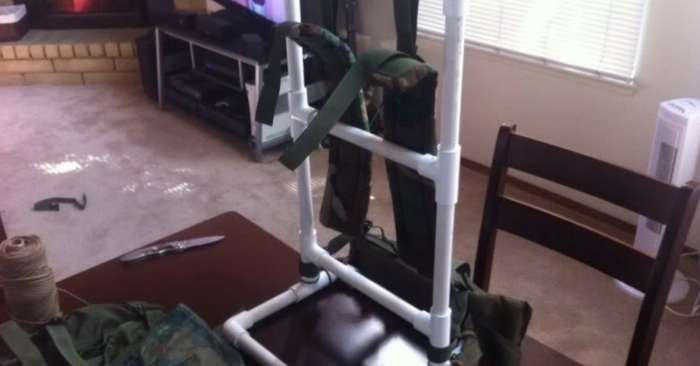 DIY PVC Alice Pack Frame — Having a solid brace for a bug out bag is better for your back, it can hold more weight and take pressure off the back also. PVC is so versatile..make your bug out bag more comfortable and secure.