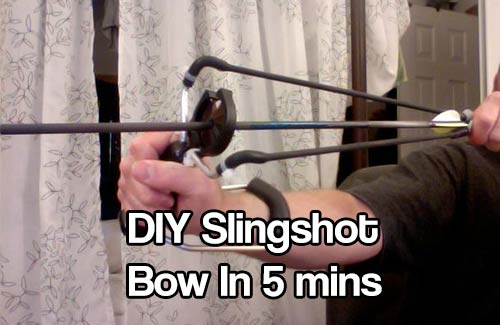 DIY Slingshot Bow In 5 mins
