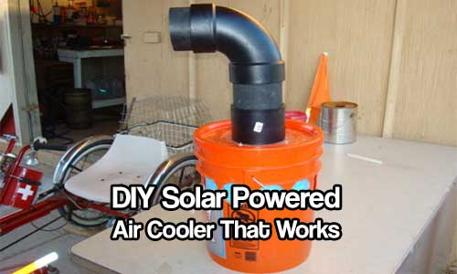 DIY Solar Powered Air Cooler - An evaporative cooler can reduce the temperature in a small to medium room by 20 to 30 degrees. This would be extremely handy to have in a SHTF situation, also if you are camping.