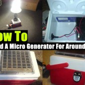 How To Build A Micro Generator For Around $90 - This easy Micro Generator project could come in very useful for camping and if the power goes out. It is small enough that it won't get in the way and powerful enough to run a household light bulb.