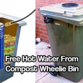 Free Hot Water from Compost Wheelie Bin