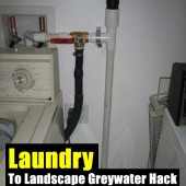 Laundry To Landscape Grey-water Hack