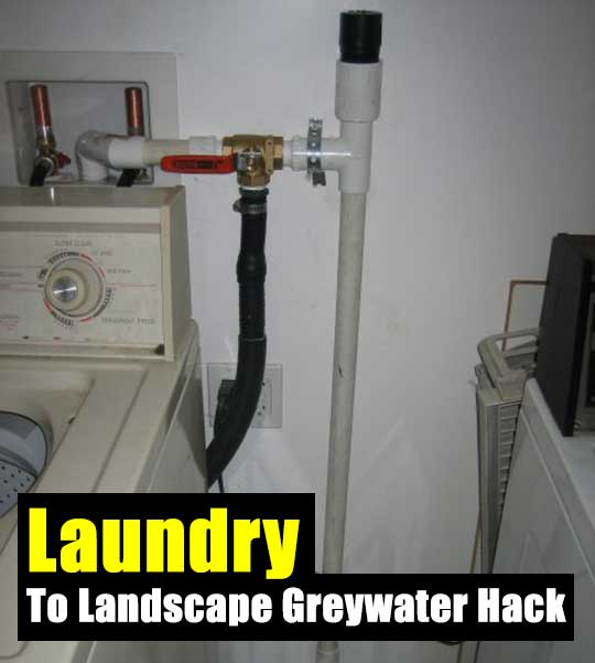 washing machine greywater system