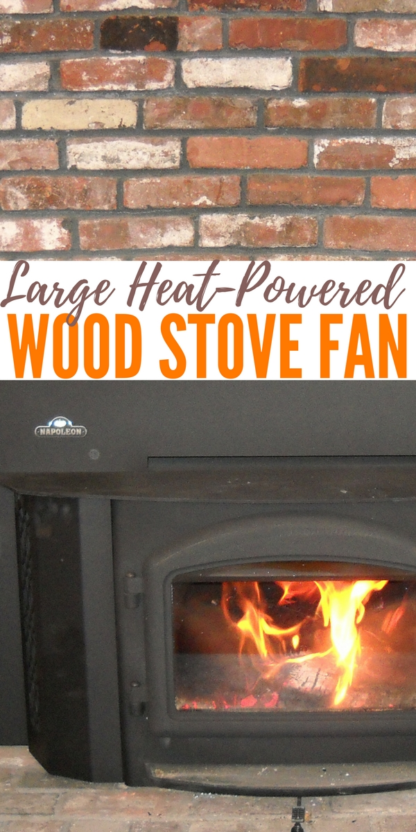 Large Heat-Powered Wood Stove Fan — This amazing large Heat-Powered Wood Stove Fan. Increase your stove's efficiency, move more warm air around the room Starts automatically & adjusts its speed with stove temperature.