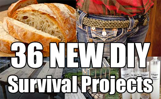 36 NEW DIY Survival Projects