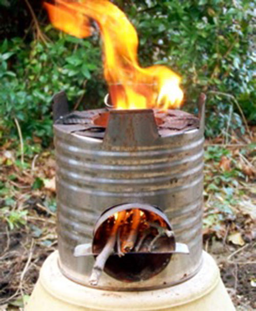 What is a rocket stove why do i need one shtf for Tin can rocket stove