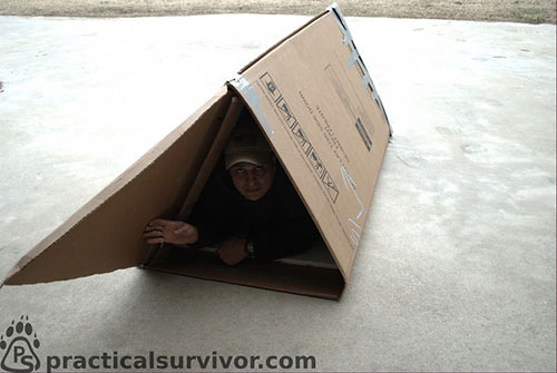 Urban Survival Shelters - DIY Cold Weather Shelter