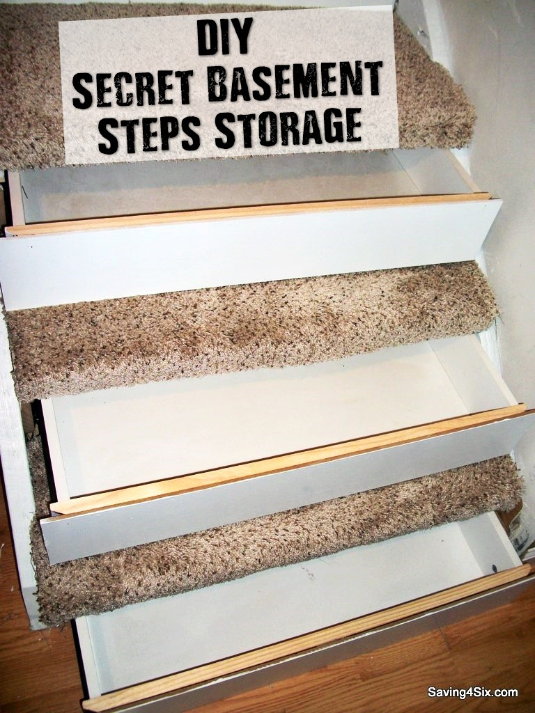 DIY Secret Basement Steps Storage - Storage is a big problem for everyone... Keeping things secret is another problem most of us have. This is a perfect DIY project to keep you busy and prepared all at the same time, even if you ae not a prepper, this can give you a great deal of extra storage!