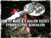 How To Make A 5 Gallon Bucket Hydroelectric Generator -
