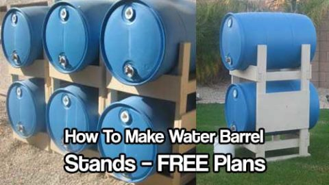 How To Make Water Barrel Stands – FREE Plans