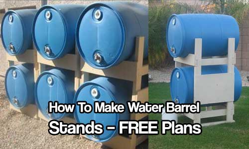 How To Make Water Barrel Stands - Don't settle for cheap water barrel stands, build your own with these great plans. These are sturdy, easy to build and look fantastic in any garden.