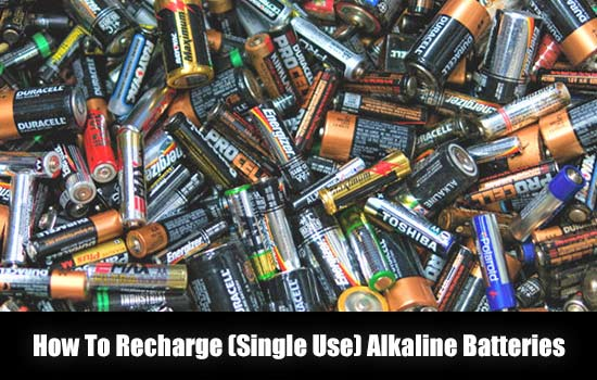 How To Recharge (Single Use) Alkaline Batteries - I recently learned that it was possible to not only to test old alkaline batteries to see if they are still usable. With the right type of charger you can bring dead batteries back to life and actually recharge alkaline batteries.