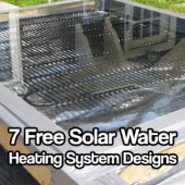 7 Free Solar Water Heating System Designs