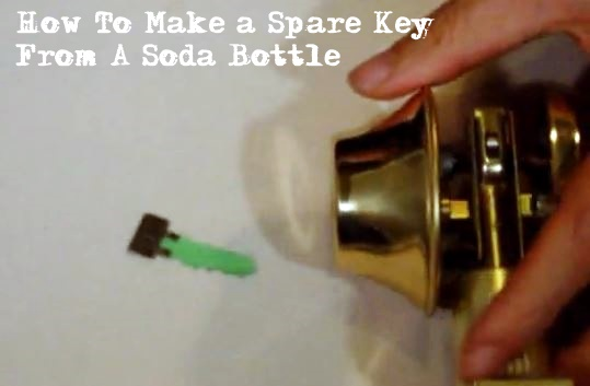 How To Make A Spare Key From A Soda Bottle - YES... this works. If SHTF you may not have access to get a key professionally made so why not make it yourself out of an old soda bottle? Its quick, easy and it works. Obviously this isn't ideal, but in a SHTF situation you have to do what you have to do.