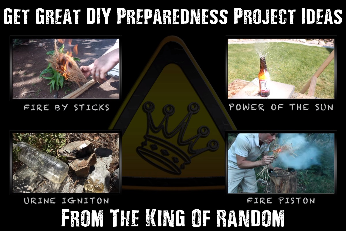 """Get Great DIY Preparedness Project Ideas With The King Of Random - The King Of Random has made quite a few SHTF and emergency preparedness """"weekend projects"""" on YouTube, and the good thing is he shows you how to make them too! He has a huge collection of great projects that you do not want to miss!"""