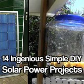 """14 Ingenious Simple DIY Solar Power Projects - Solar power is getting big these days. Its also pretty expensive but if you follow these 14 simple DIY projects you could be off the grid quicker than you can say """"electricity""""."""