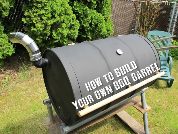 How to Build Your Own BBQ Barrel - A good BBQ may set you back a good few hundred dollars. This DIY project could cost less that 50. Even cheaper if you get stuff free of craigslist or local shops. This is simple to make and will last you years and years. In an emergency situation, this would also double up as your main cooking piece.