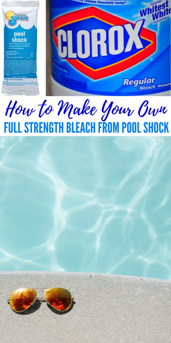 How to Make Your Own Full Strength Bleach from Pool Shock — If after a disaster event and there's no safe drinking water available, no one would dispute the need for bleach used for Water Disinfecting, Clean Clothing and General Surface Sanitation.
