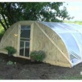 How to Build A Hoop Greenhouse From 3 Items