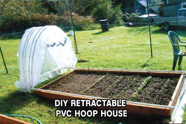 DIY Retractable PVC Hoop House