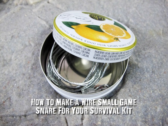 How To Make a Wire Small Game Snare For Your Survival Kit - For just a few $$ you can buy enough supplies to make 10+ pre-made wire snares to stow away in your survival packs and kits.