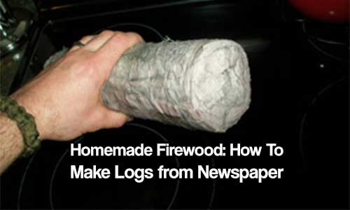 Homemade Firewood: How to Make Logs from Newspaper