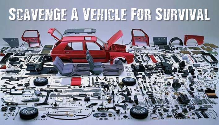 Scavenge A Vehicle For Survival - When the SHTF, you will likely need to do some scavenging, like it or not. Here are some of the most useful parts of a vehicle, which would be valuable commodities in a survival scenario.
