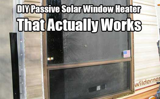DIY Passive Solar Window Heater That Actually Works