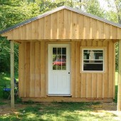 How to Build a 12×20 Cabin on a Budget - Are you struggling financially? Do you have land but no money for a bug out cabin? If you can save $2k you could have this 12 x 16 cabin. Plenty of room for living, work and play. :)