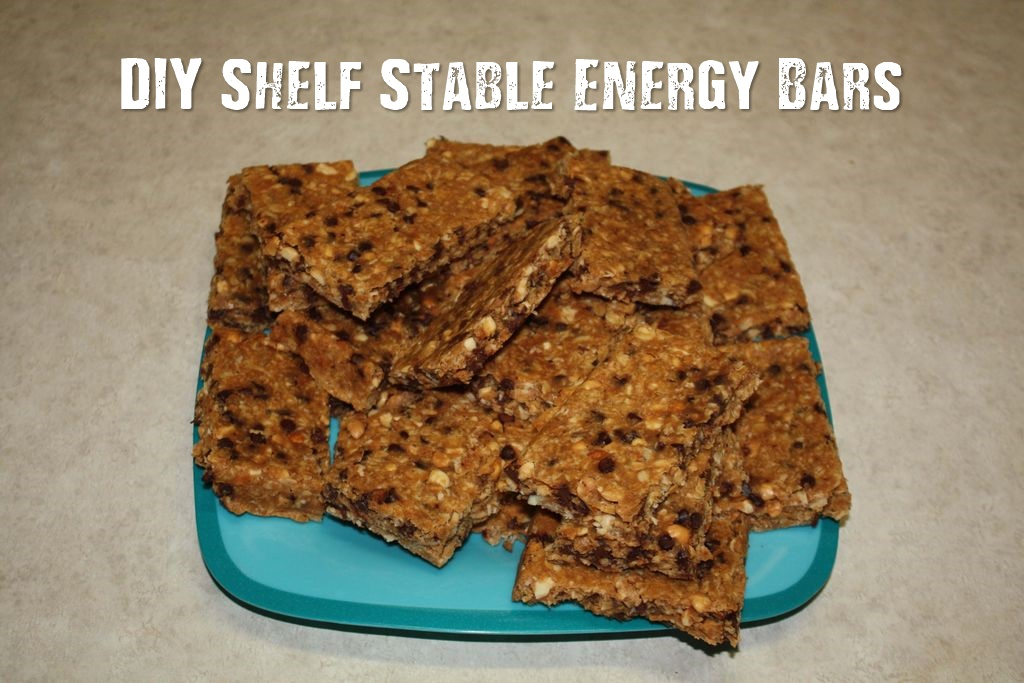 DIY Shelf Stable Energy Bars - Looking for shelf stable foods to add to your storage and bug out bags? Save some money and make your own DIY energy bars.