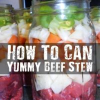 How To Can Yummy Beef Stew - Beef stew is packed with protein and carbohydrates that will fuel your body in times of joy and times of SHTF. This is a great recipe and set of instructions that show you how to make this meal in a jar.