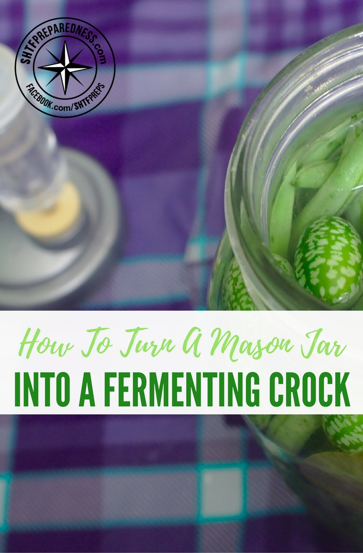 How To Turn A Mason Jar Into A Fermenting Crock — Do you want to save a lot of money and eat fermented foods to better your health? Make a few of these and you can. These would make excellent gifts for family and friends!