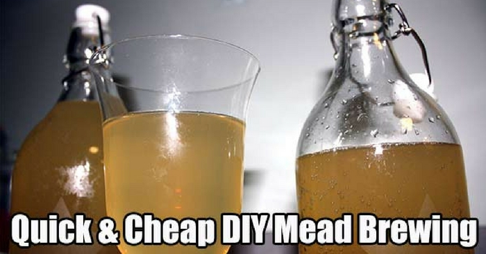 Quick & Cheap DIY Mead Brewing For The Colder Months — This is a really cool project. A few months ago I posted How To Make Mead (Honey Wine) and that went down really well, a lot of you commented how yummy and easy it is to make.