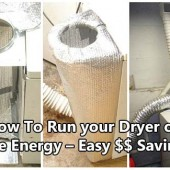 Run your Dryer on Free Energy – Easy $$ Savings
