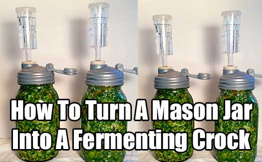 How To Turn A Mason Jar Into A Fermenting Crock