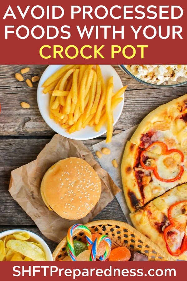 """100 Days of No Processed Foods: Crock Pot Recipes - By """"no processed"""" foods I mean that nothing in these recipes calls for cream-of junk (unless it's homemade), any pre-packed item like Italian Dressing, or Velveeta (bless Velveeta's heart), etc."""