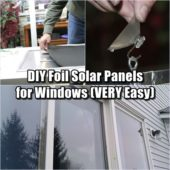 DIY Foil Solar Panels for Windows (VERY Easy)