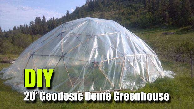 DIY 20u0027 Geodesic Dome Greenhouse - You can get food all year be more self ... & DIY 20u0027 Geodesic Dome Greenhouse - SHTF Prepping u0026 Homesteading ...