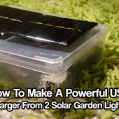 How To Make A Powerful USB Charger From 2 Solar Garden Lights