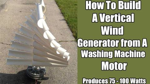 How To Build A Vertical Wind Generator from Washing Machine Motor