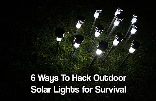 6 Ways to Hack Outdoor Solar Lights for Survival - You can use them in many ways, other than just making your walkway pretty and cost efficient; from increasing egg production, to charging batteries, to preparing your unprepared loved ones.