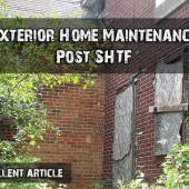 Exterior Home Maintenance Post SHTF