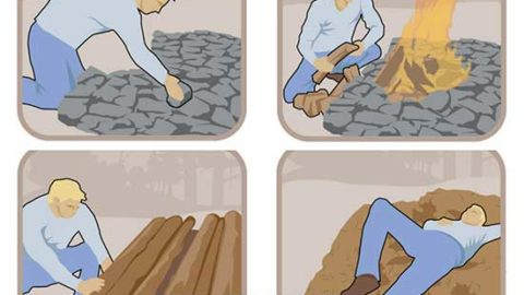 Make a Fire Bed and 3 Otherways to Stay Warm Outside
