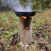 How To Make A One Log Rocket Stove – Genius